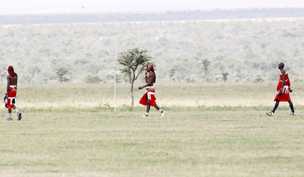 Maasai cricketers
