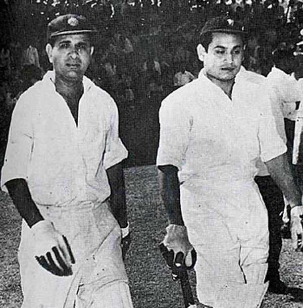 Vinoo Mankad (left) and Pankaj Roy