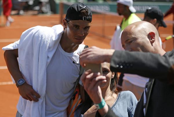 Nadal fan selfie