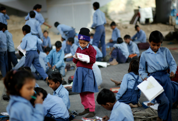 school kid india