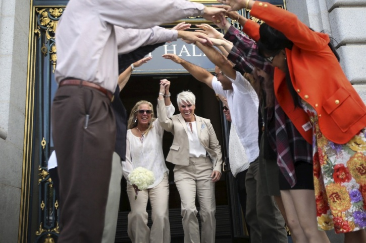 lesbian couple married