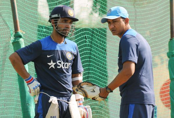 Sanjay Bangar with Ajinkya Rahane