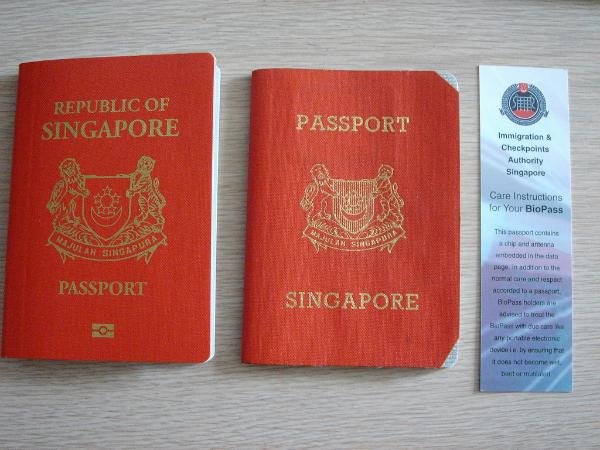 Fake singapore passport