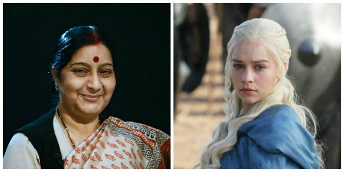 Sushma Swaraj and Daenerys Targaryen