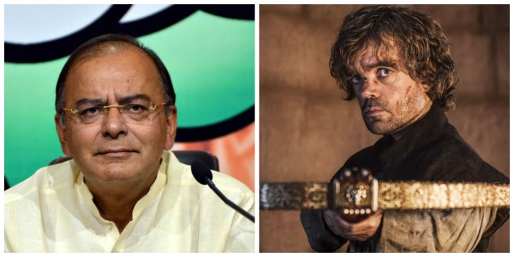 Arun Jaitley and Tyrion Lannister
