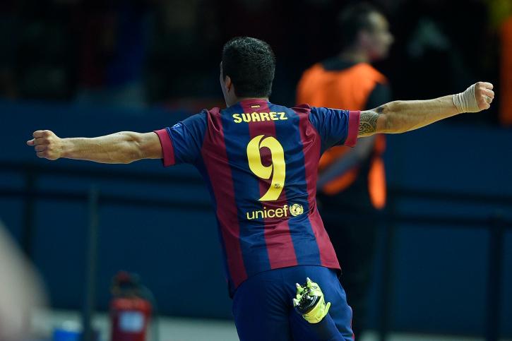 Suarez scores Barca