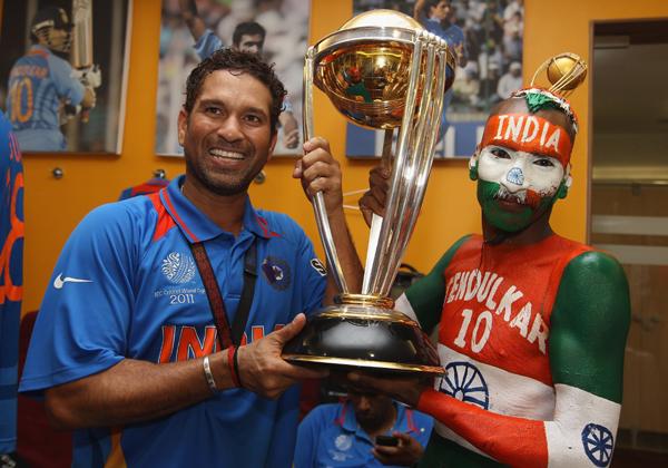 Sudhir with Sachin