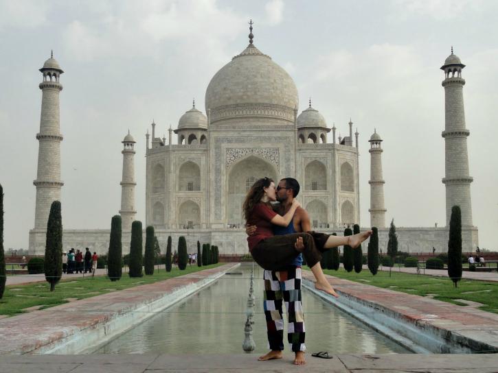 Couple at Taj