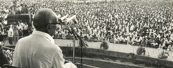 Jayprakash Narayan addressing a rally