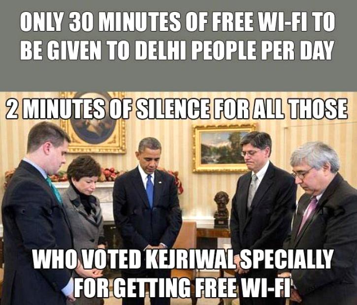 Kejriwal wifi meme