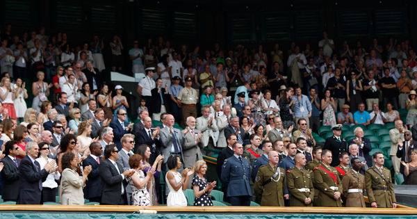 The Royal Box is one of the stand-out sections in Wimbledon.