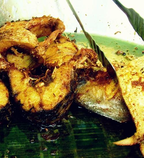fried fish at ganesh