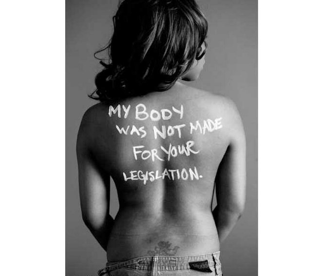 my body was not made for your legislation