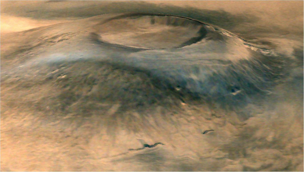 Arias mons captured by Mars Orbiter Mission