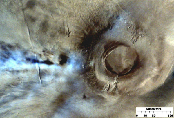 Arsia mons from top