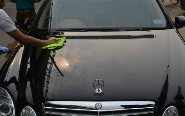 Car waxing is a weekly ritual
