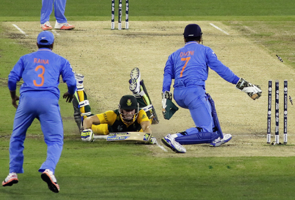 Dhoni effects run out