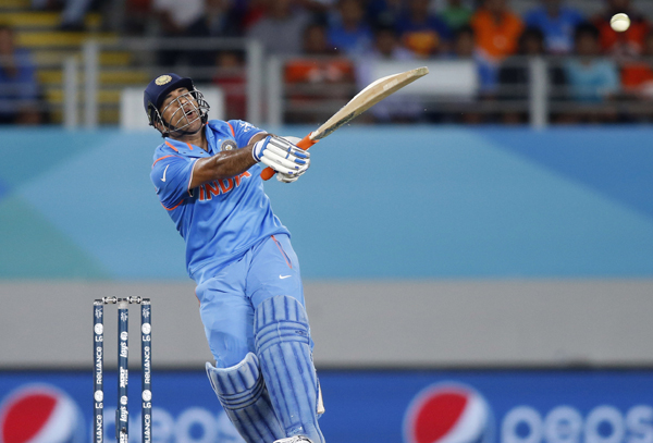 Dhoni in pain