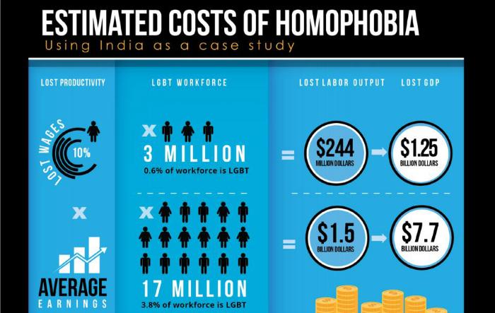 homophibia economic cost india