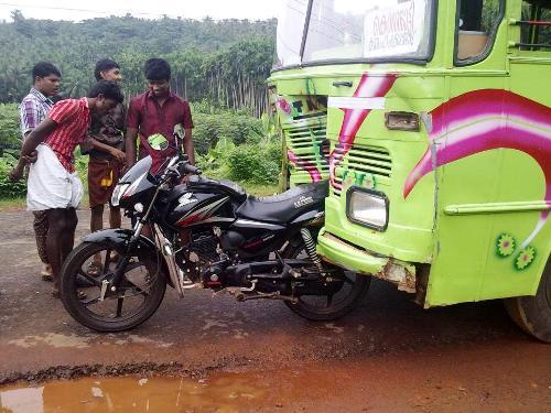 motorbike truck crash
