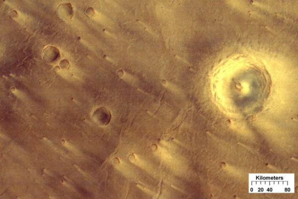 kinkora crater on mars