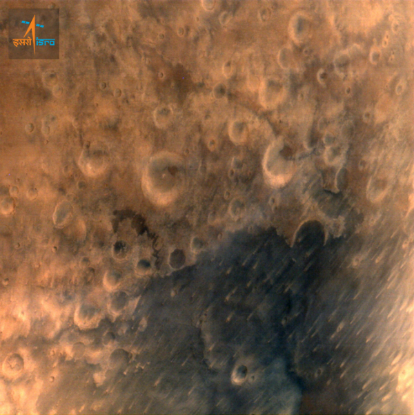 closeup of mars by mars orbiter mission