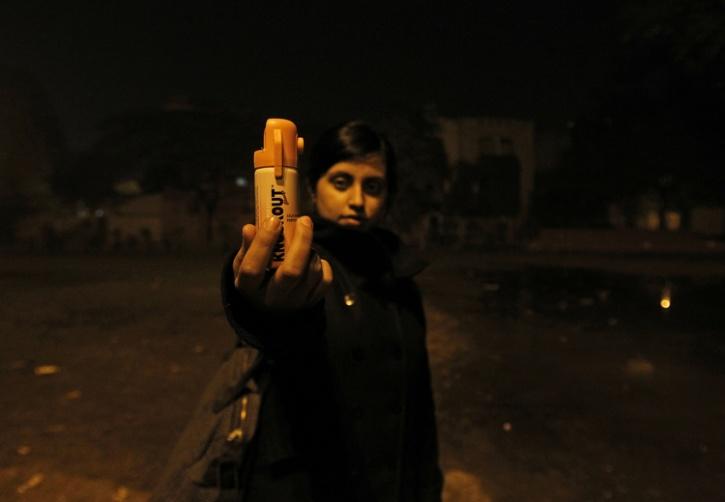pepper spray india girl