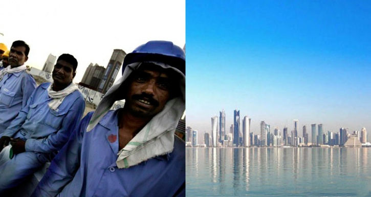 indian labourers qatar