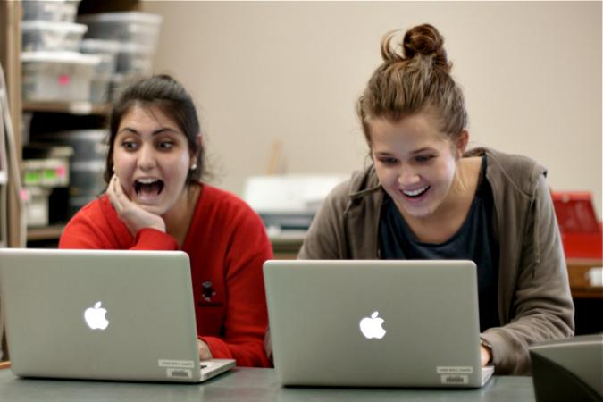 Social media interns at FB