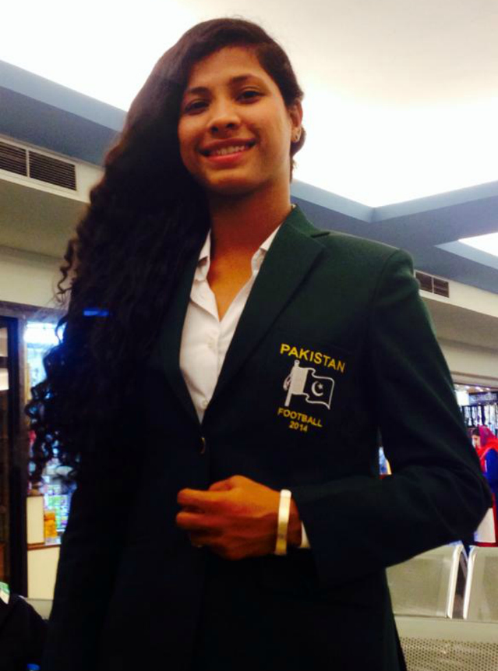 hajra khan captain Pakistan Womens' football team