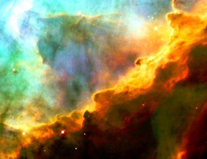gas storm in swan nebula
