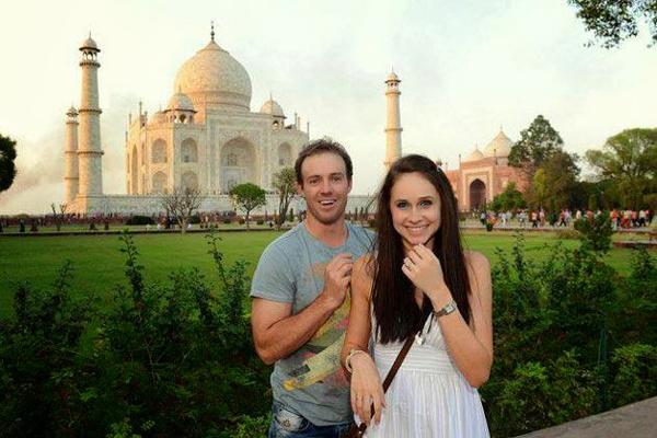 AB de Villiers with wife Danielle