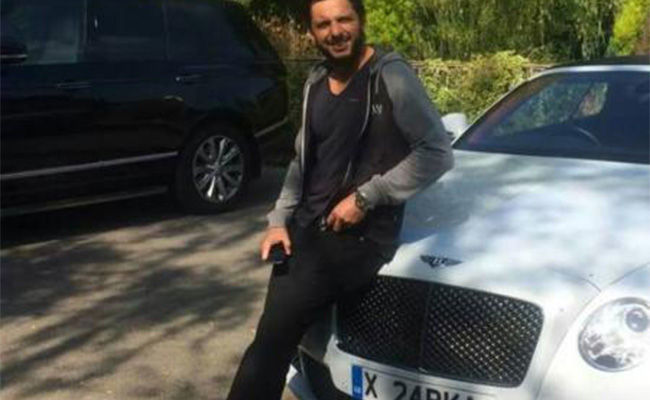 Afridi with his Bentley Continental