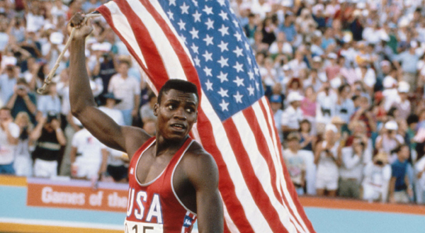 Carl Lewis during 1984 Olympics