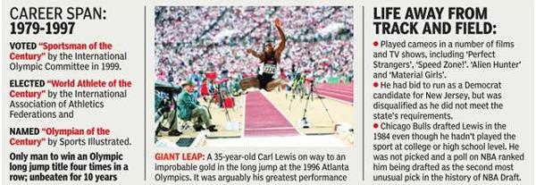 Carl Lewis infograph