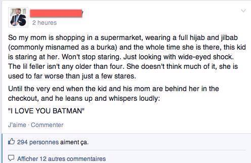 I love you batman hijab