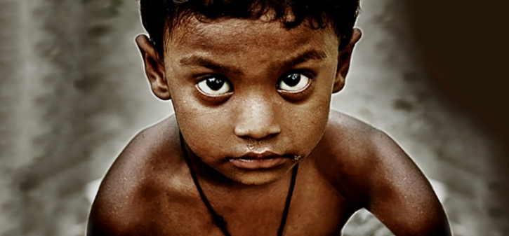 child staring