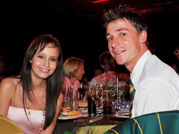 Dale Steyn with partner Jeanne