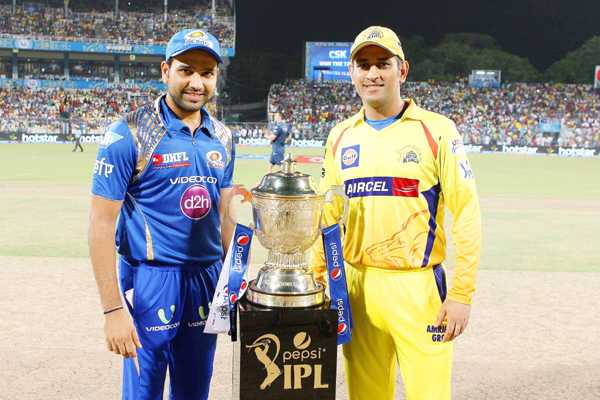 Dhoni and Rohit with trophy