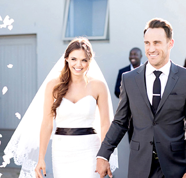 Faf du Plessis' wedding with Imari Visser