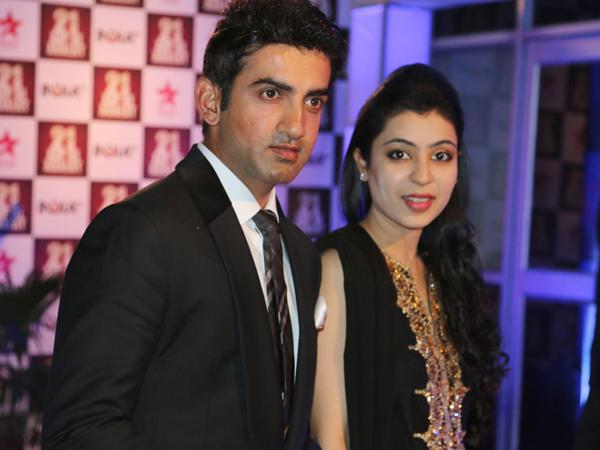 Gautam Gambhir with wife Natasha Jain