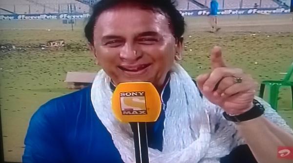 Gavaskar imitating TV presentors