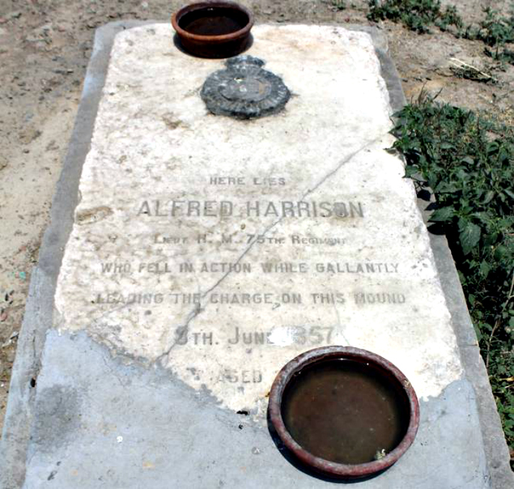 The lone marked grave is of Lieutenant Alfred Harrison who led the charge. It was repaired by the caretaker out of his own pocket