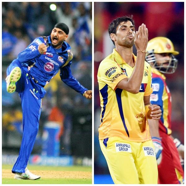 Harbhajan Singh and Ashish Nehra
