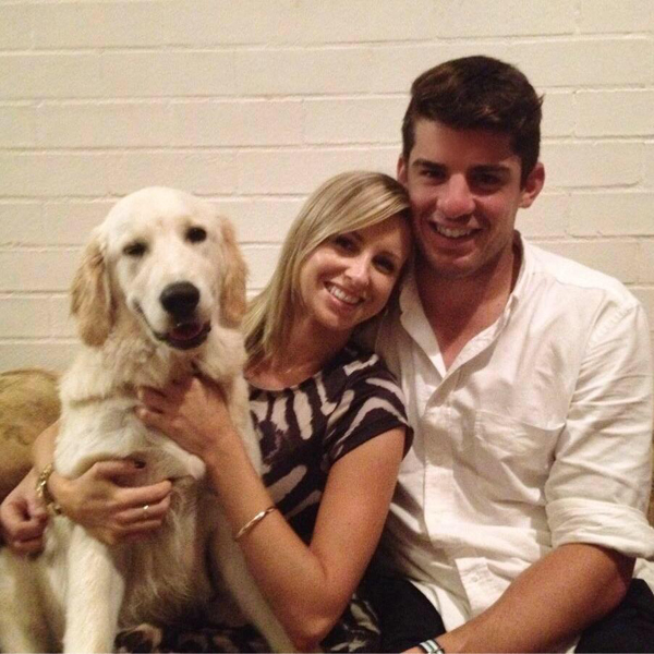 Moises Henriques with his girlfriend and her dog