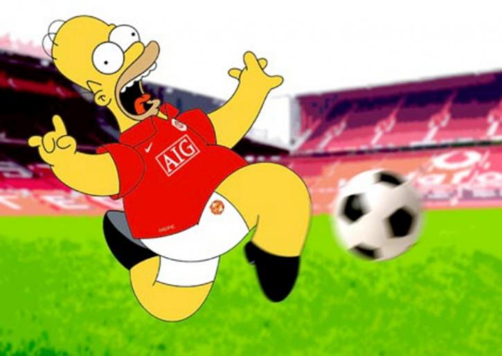 Homer Simpson Man utd