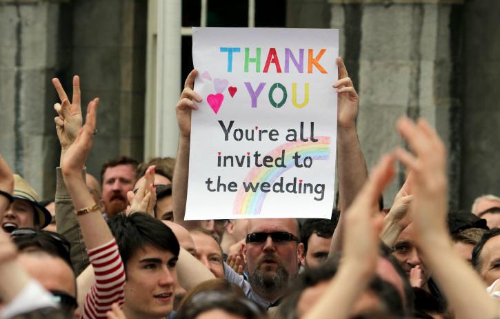 Irish celebrate Gay marriage legalisation