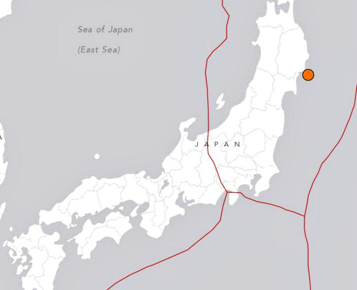 Japan earthquake 6.9