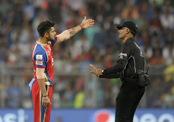 Kohli in an argument with the umpire