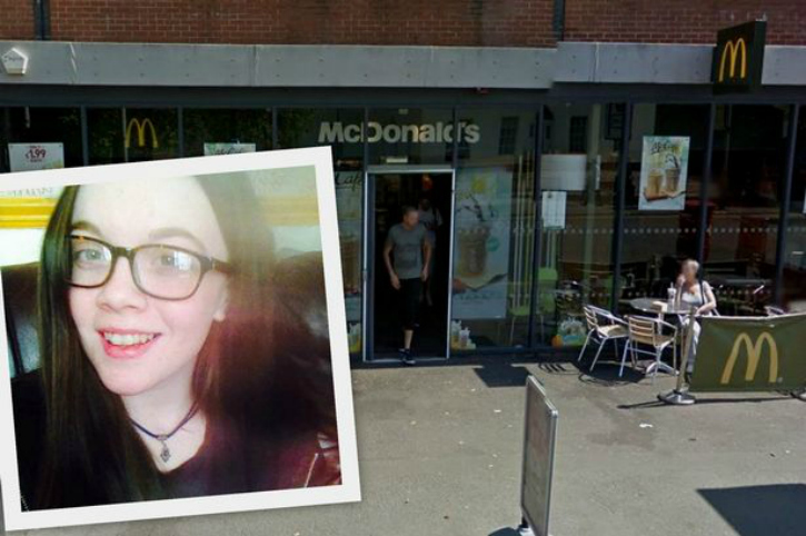 Charlotte Farrow inset and McDonald's Oxford road